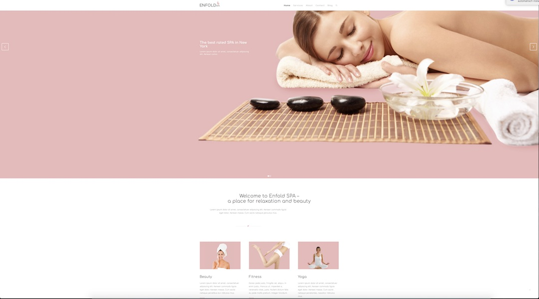 marketing mix mit Webdesign und Enfold_Demo SPA_Wellness
